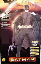 BATMAN BEGINS MUSCLE CHEST ADULT HALLOWEEN COSTUME NEW RUBIES MEDIUM & LARGE