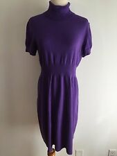 Jones New York Sport Turtleneck Sweater Dress Purple Size L