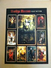 MARILYN MANSON 2000 Retail PROMO POSTER for Holy Wood CD USA 24x18 holywood