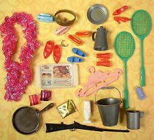 Vintage 29 Piece Lot Barbie Ken Tressy Tammy & Clone Accessories Fun Stuff!