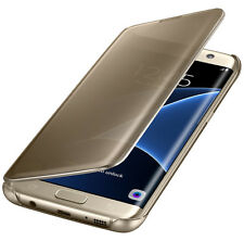 Original Samsung Galaxy s7 Edge clear View flip cover funda protectora ef-zg935 oro