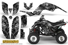 YAMAHA RAPTOR 660 GRAPHICS KIT CREATORX DECALS STICKERS INFERNO SILVER