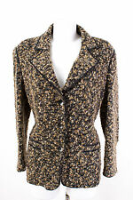 Damen Strickjacke Gr. 3XL / 46 Bouclé Cardigan Strick Strickblazer Knit Jacket