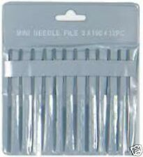 53608 Proedge Model Hobby Craft 12 Mini Needle File Set 2mmx100mm & Tool Holder