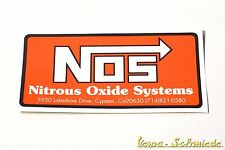 "VESPA Dekor Aufkleber ""NOS"" - V50 PK PX GS GL GT Rally Sprint Scooter Sticker"