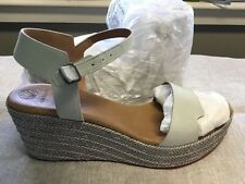 EVEN LESS Coclico Wedge Leather Sandal 39, Nectar Ringo,  White NIB Retail $300+