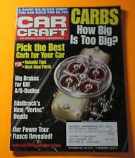 CAR CRAFT MAGAZINE SEPT/2001...PICK THE BEST CARB FOR YOUR CAR...