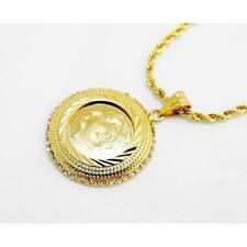 Atatürk Cerceve Ceyrek 22ayar altin kaplama Gold Münze ink.Halskette vergoldet*