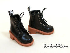 1/4 bjd msd boy doll shoe black martin boots dollfie luts iplehouse JID girl