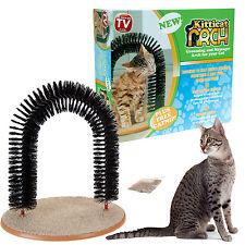 CAT SCRATCH POST ARCH PLAY MASSAGER GROOMER KITTY KITTEN PLAY GROOMING SCRATCHER