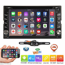 """6.2"""" Smart Android 6.0 4G WiFi Double 2DIN Car Radio Stereo DVD Player GPS+Cam"""