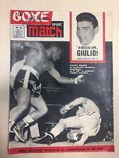 SPORT MATCH LA BOXE NEL MONDO RIVISTA N° 9 DEL 1961 DAVEY MOORE