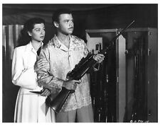 SONG OF INDIA scene still w/gun GAIL RUSSELL & TURHAN BEY  - (c781)