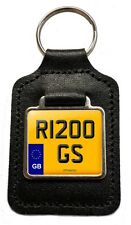 BMW R1200 GS Cherished Number Plate Motorcycle Leather Keyring Gift
