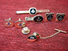 MASONIC DRESS ITEM LOT - NICE LINKS, TIE BAR/CLIP/TAC & LAPEL PIN - NICE GROUP