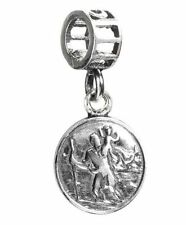 TEDORA SAINT CHRISTOPHER BEAD 925 SILVER CHARMS FIT EUROPEAN BEADS 099