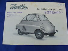 BROCHURE ISO ISETTA 1954 ORIGINALE D'EPOCA MANUALE ISO MADE IN ITALY OLD