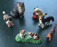 Bundle of Plastic Cats and Dogs