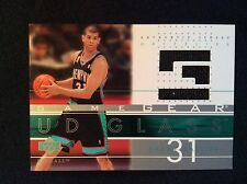 Nice! SHANE BATTIER 2005-06 UD GLASS GAME USED WORN JERSEY PATCH DUKE GRIZZLIES