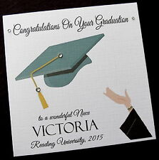 Personalised Congratulations on your Graduation Card Female or Male