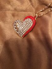 Cute NWT Betsey Johnson Necklace Red Heart Valentines