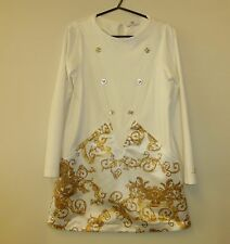 VERSACE CREAM DRESS YOUNG VERSACE SIZE XL AGE 10 YEARS