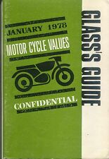 Glass's Guide Motorcycle Values Confidential January 1978 No 291