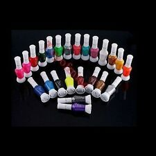 24 Colors Mix Colors Pure Glitter 2 Way Nail Art Tips Brush Pen Varnish Polish