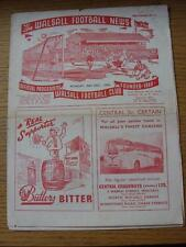 20/10/1958 Walsall v Lincoln City [Friendly] (torn & worn with sellotape repairs