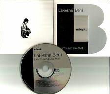LAKIESHA BERRI Like This and That 7TRX w/ MIXES & EDITS UK CD single USA Seller