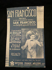 Partition San Francisco Jo Bouillon Kaper Jurmann Music Sheet