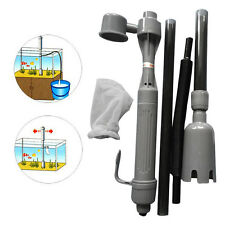 Aquarium Electric Battery Syphon Fish Tank Vacuum Gravel Water Filter Cleaner