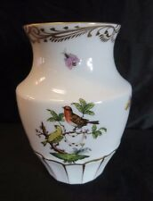 Herend, Hungary Rothschild Bird pattern bone china vase- 14 cm high -GR