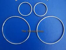 For Volvo S60 V70 S80 XC70 XC90 Chrome Dial Rings Gauge Trim Surrounds Set Of 4