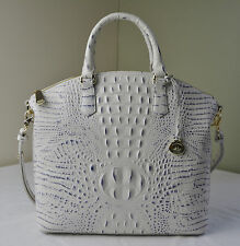 Brahmin Stonewash Croco Embossed Large Duxbury Satchel Shoulder Bag