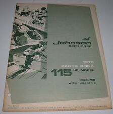 Parts Catalog Johnson Sea Horse Ersatzteilkatalog 115 HP Model Hydro Electric!