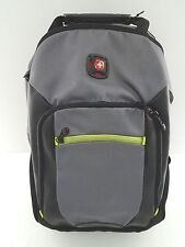 "NWOT Wenger ""THE ZONE"" 16"" Laptop Backpack w/Tablet Pocket- Gray/Black/Yellow"