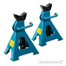 Axle Stand Set 2pce 3 Tonne Axle stands with ratchet action