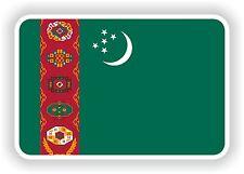 """Turkménistan drapeau autocollant 2,8 x4 """"Voiture Pare-chocs Autocollant Réfrigérateur TABLETTE PORTE LIVRE de vélo"""