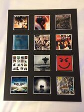 "BON JOVI 14"" BY 11"" LP DISCOGRAPHY COVERS PICTURE MOUNTED READY TO FRAME"