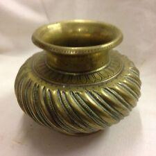 Indian Brass Vase Or Funeral Jar