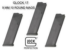 3 PACK GLOCK 17 10 Round 9mm G17/34 Pistol Magazine OEM Factory Gen 1 2 3 4 NEW