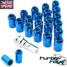 20x BLUE STEEL WHEEL TUNER NUTS M12x1.5 fit HONDA MAZDA TOYOTA MITSUBISHI FORD