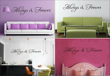 "New Letter Wall Sticker""Always and Forever"" Quote Home Decals Decoration Fashion"