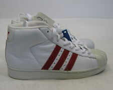 adidas  white hi top red strips on the side leather   677770   Size.    7.5