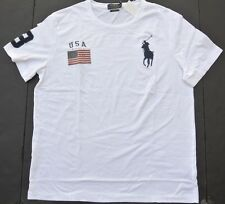NEW MENS POLO RALPH LAUREN WHITE USA FLAG BIG PONY T SHIRT 3XLT 3TGL TALL LONG