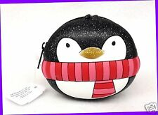 1 Bath & Body Works BLACK PENGUIN Coin Purse Baggie Pouch Holder Cosmetic Wallet