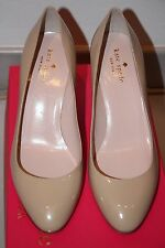 "$298 NWB Kate Spade Camelia Powder Beige Nude Patent Leather Pumps 3"" Heels sz 8"
