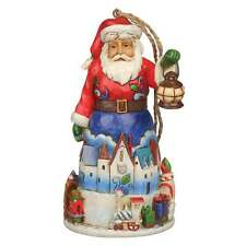 Jim Shore Heartwood Creek Christmas Santa With Train Hanging Ornament 4042971