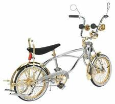 "LOWRIDER BICYCLE 16"" CHROME & GOLD  52 SPOKE LOWRIDER BIKE"